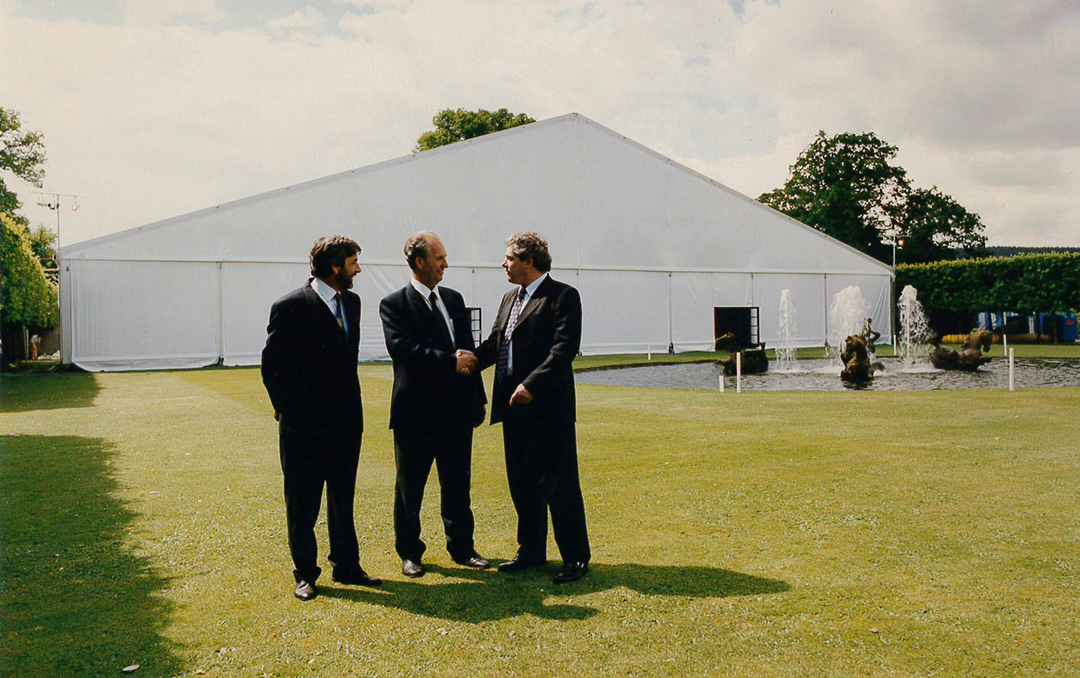 40m Freespan H - Chatsworth House - Stuart Pepper (Central) with Ian Milton (Left) and Joe Hoecker (Right) - 1998