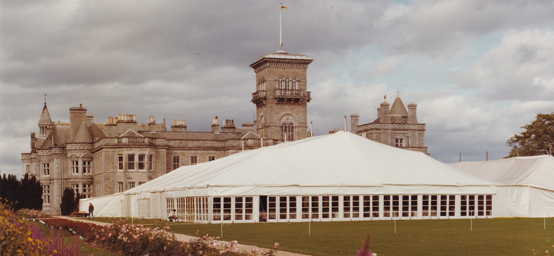 Party Marquee Dunecht house - 1977